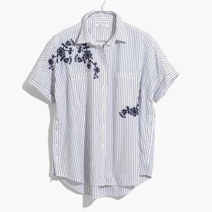 Madewell Striped Embroidered Shirt